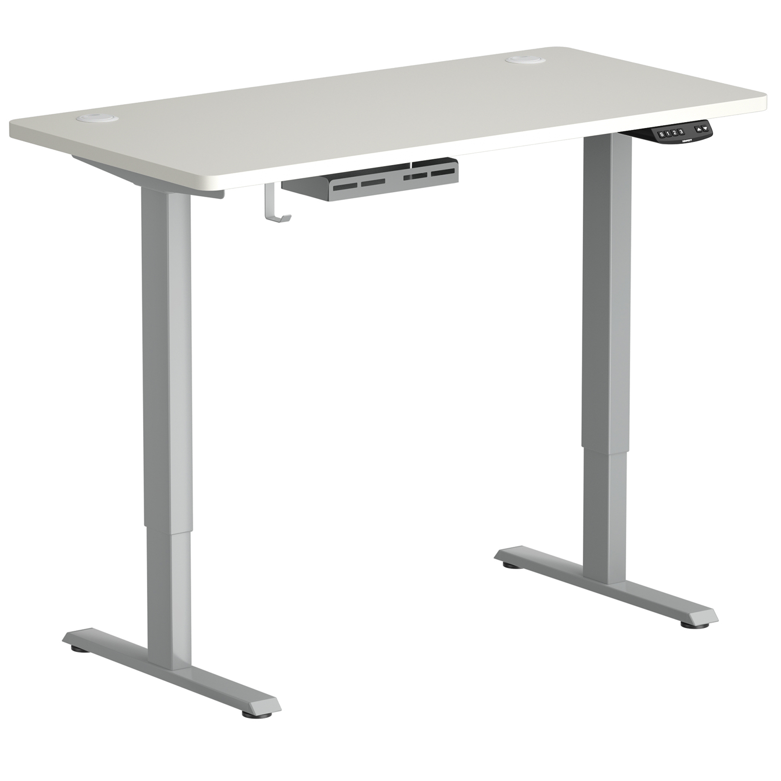 thumbnail 9 - Costway Electric Standing Desk Sit to Stand Height Adjustable Table Dual Motor