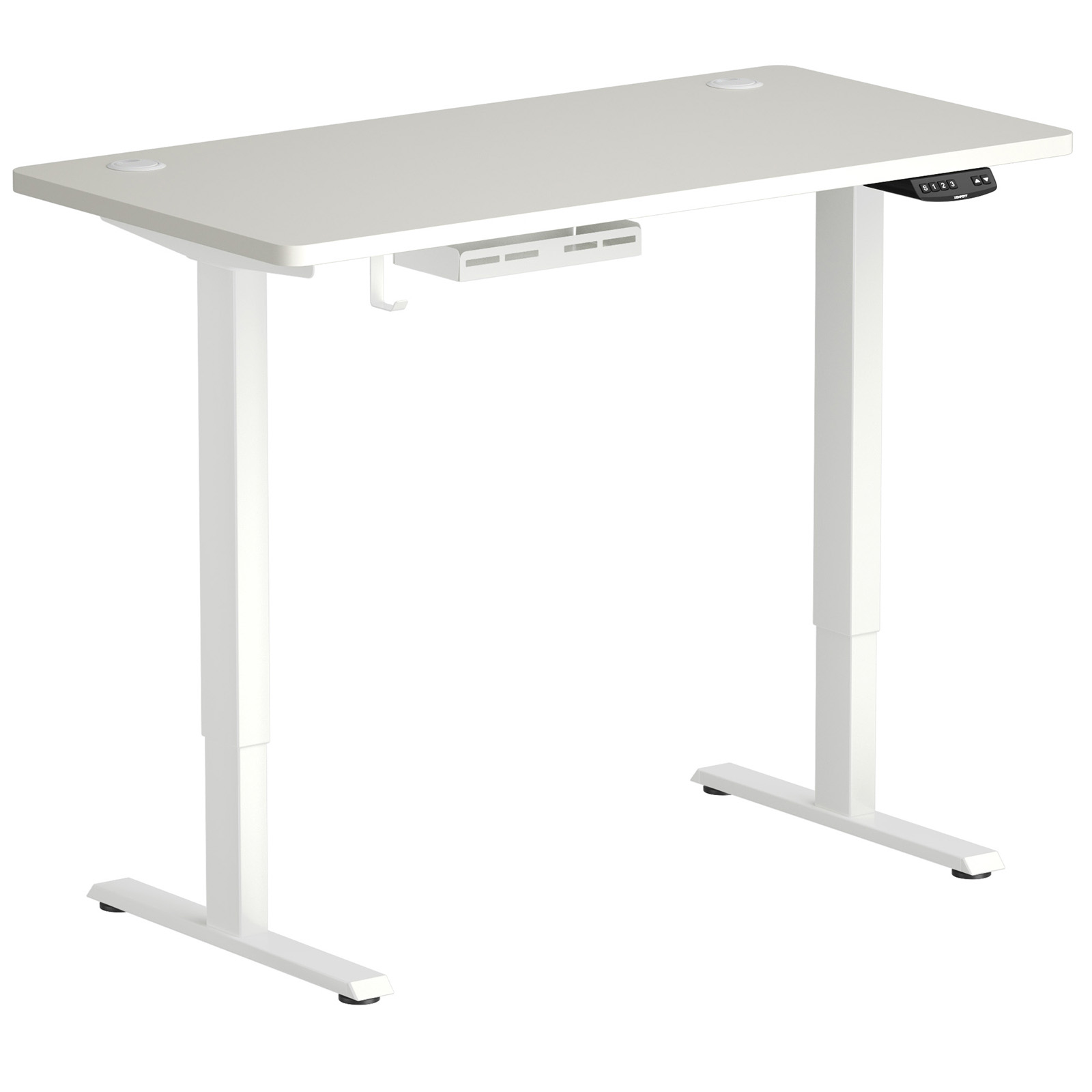 thumbnail 15 - Costway Electric Standing Desk Sit to Stand Height Adjustable Table Dual Motor